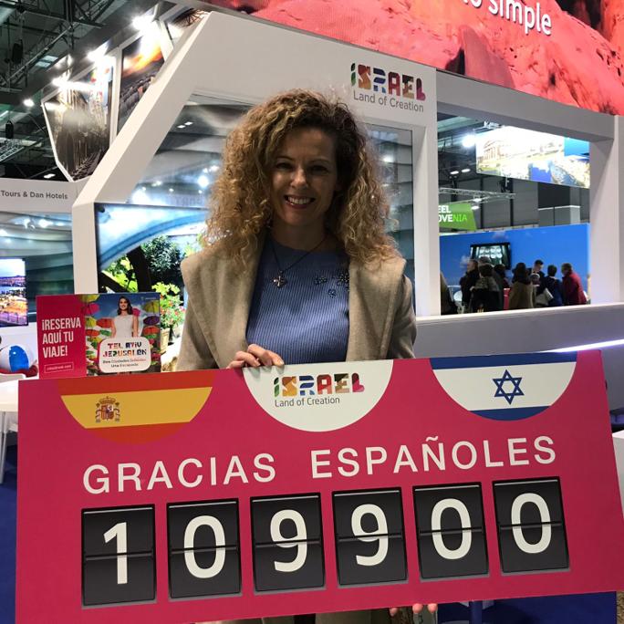 Israel recibe a la turista española número 100.000
