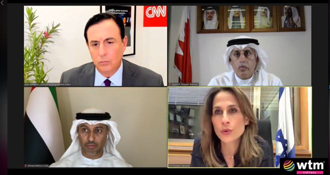Israel, Emiratos Árabes Unidos y Bahréin se reúnen virtualmente en el World Travel Market